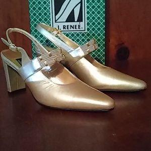 J.Renee Gold Heels size 6M